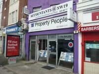 COMMERCIAL SPACE TO LET SUITABLE FOR A1/A2 BUSINESS/RETAIL/OFFICES IN WIMBLEDON, SW19 @ £1000/-P.M.