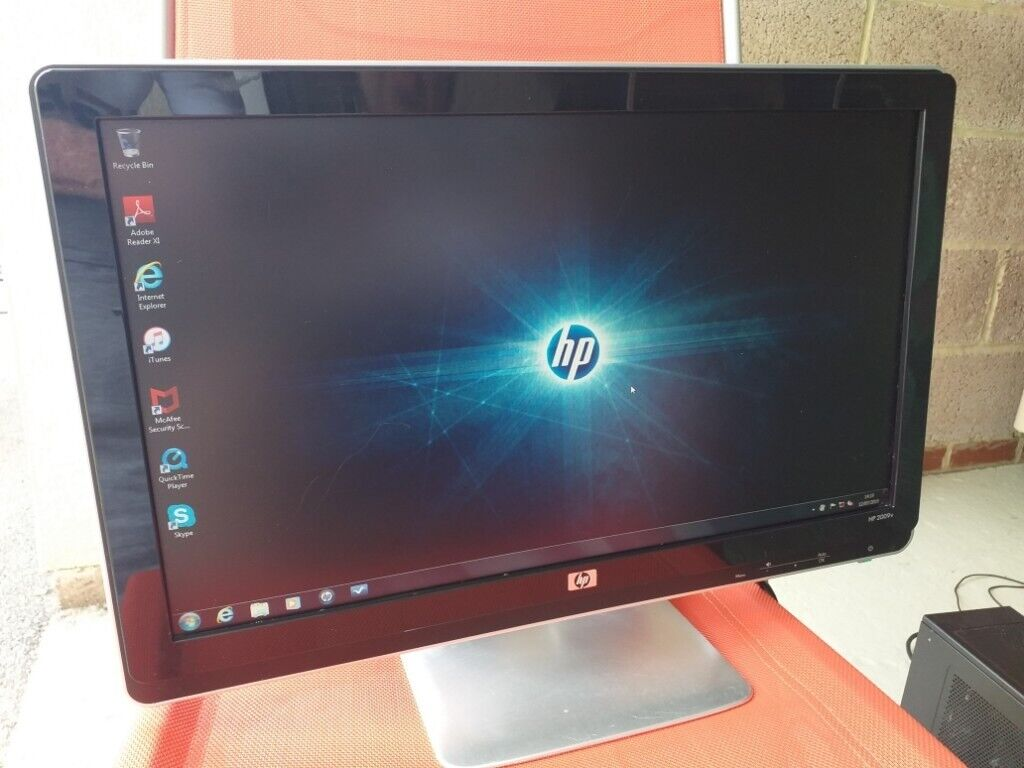 Complete matching HP computer, 20 inch monitor mouse keyboard and tower  unit  windows 7 home premium | in Swindon, Wiltshire | Gumtree