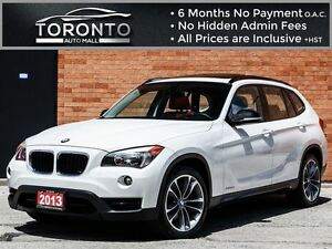 2013 BMW X1 xDrive28i+Sport Pkg+Pano Roof+Red leather seats