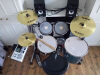 Electronic Drum Kit - Customised Alesis Dm10 with surge symbols and Roland triggers