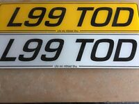 Private plate/ cherished number/tod