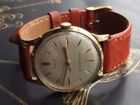 Mens vintage 9k 9ct solid 375 gold Avia watch (Christmas present)
