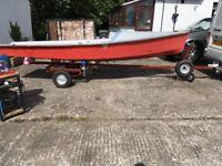 Scorpion sailing dinghy / boat c/w road trailer