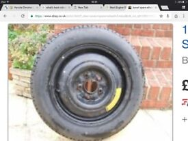 """Space saver spare wheel 15"""" 5 stud , good tyre and hard , needs tidied hence price , Mallusk area"""