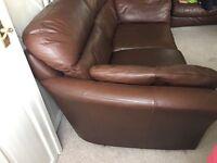Leather sofa set , Large