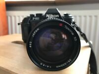 Nikon F-301 Film SLR In-built Flash + Quality Tokina SD Zoom Lens - MINT Condition F301 (vintage)