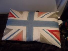 Union Jack cushion from John Lewis - made of wool