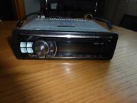 alpine car cd player radio cde 101r with usb plug hole mp3