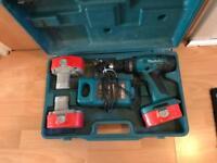Makita 18v combi hammer drill 3x batteries