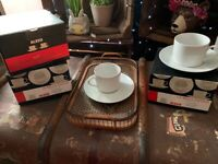 Alessi cup and saucers new in boxes. X 6