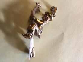 Witch gold pendant