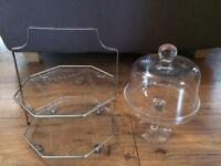 Two Cake Stands (1 vintage)