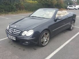 Mercedes Convertible CLK 200 K AMG features