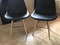 2 dining / kitchen / study / bedroom chairs