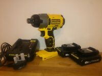 STANLEY FATMAX 18V Impact Driver Inc 2x Li-ion Batteries & Charger NEW