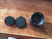 Auto Chinon Multi-Coated f1.7 55mm lens M42 mount