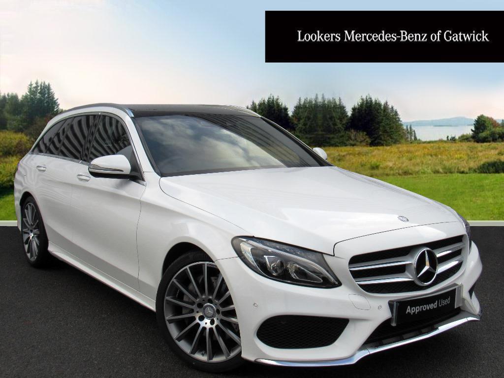 Mercedes benz c class c300 h amg line premium plus white for White mercedes benz c300