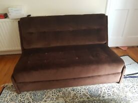 Gorgeous Brown Suede Sofabed for Sale!