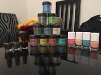 Powder pigment make up & nail polish bundle. Barely Used