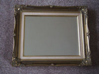 Stunning Vintage Picture Frame Style Ornate Gold Coloured Good Quality Feature Mirror Good Condition