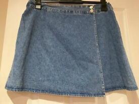 Jean short skirt size 20