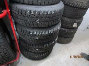 225/60R17 SET OF 4 USED BRIDGESTONE SNOW TIRES