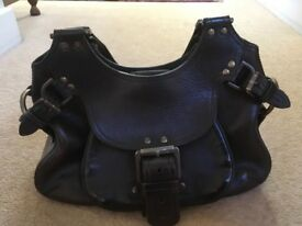 Mulberry handbag genuine Phoebe style in dark brown leather very good condition