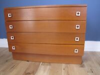 Vintage Retro Teak Chest of Drawers