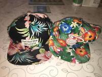2 x baseball caps (SnapBacks)