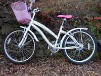 Girls Apollo Tropic bike, suit approx age 9-12. 5 gears, basket, bell, hardly used, vgc