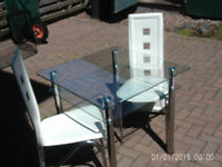 Table & chairs £25
