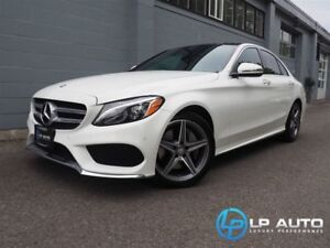 2016 Mercedes-Benz C-Class 300 4MATIC! Loaded! Easy Approvals!