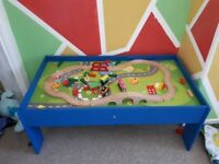 Train table - complete with track and accessories