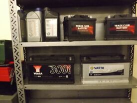 CAR AND VAN BATTERIES TESTED WITH WARRANTY FROM £20.00 VEHICLE BATTERY 063 075 100 019
