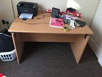 Java Beech Computer Desk Workstation Office Study
