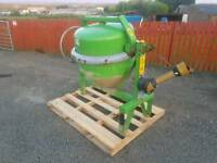 Tractor three point linkage pto driven cement mixer in excellent condition