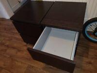 IKEA MALM DRAWERS/ BEDSIDE TABLES X 2