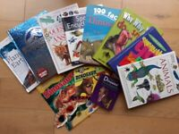 CHILDRENS NON FICTION DINOSAUR LEARNING TOY BOOK BUNDLE ~ GOOD CONDITION ~ 11 FOR £10