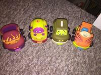 Set of 4 pull back cars toys