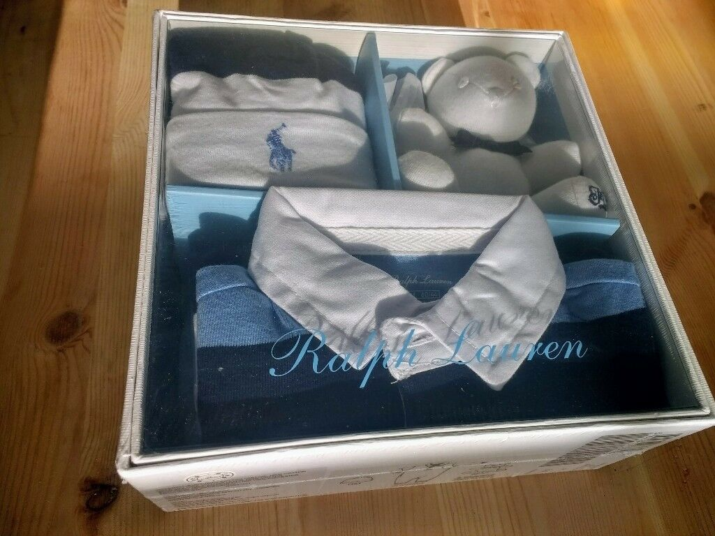 e4904567438f  NEW UNOPENED  Polo Ralph Lauren Baby Boy s Gift Set  Playsuit ...