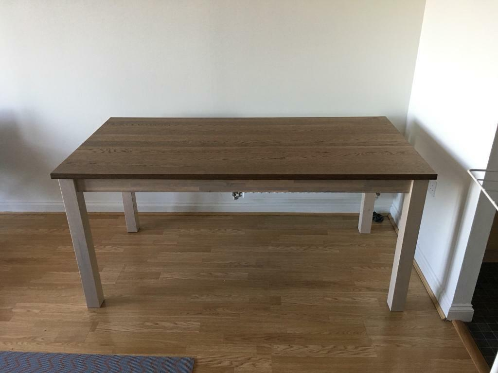 Ikea Kejsarkrona Dining Table Oak White Solid Wood
