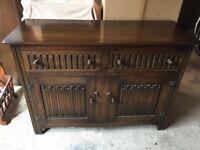Dark oak sideboard