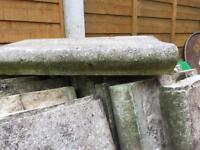 Swimming pool edging stones slabs