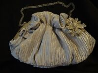 Ladies Silver / Grey Bag - Perfect for Weddings, Bridesmaids, Parties - Clutch, hand or shoulder