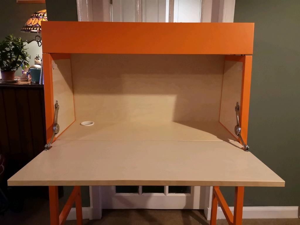 Bureau Ikea Orange : Ikea bureau orange and birch veneer in bathgate west lothian