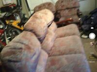 Sofa set 3 seater and 2 one off seater. Very good condition