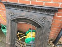 Cast iron Victorian fire surround fireplace