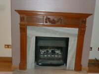 Hand Carved Pine Fire Surround