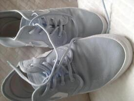 ladies converse pale blue size 6 worn once too small only reason for selling .