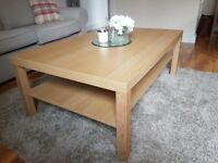 Oak coffee table hardly used